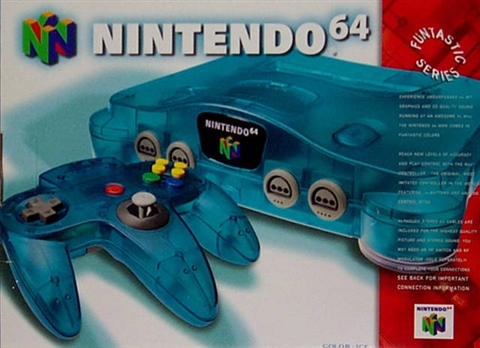 Nintendo 64 Console, Ice Blue, Boxed - CeX (UK): - Buy, Sell, Donate