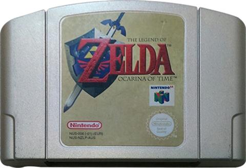 Legend of Zelda: Ocarina of Time (Gold Cart) Unboxed - CeX