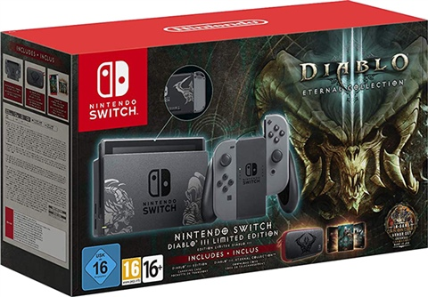 Nintendo Switch Console, 32GB Diablo+Grey Joy-Con, W/Case (No Game) Boxed