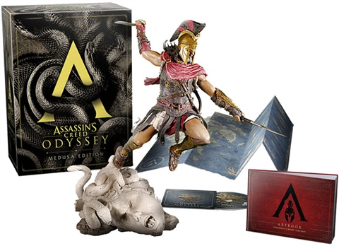Assassin S Creed Odyssey Medusa Ed W Statue Artbook Map Ost