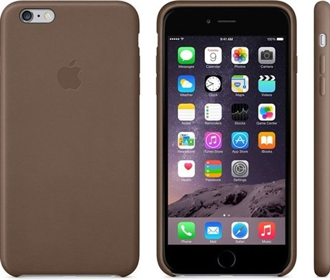 check out ddd69 501b6 Apple iPhone 6 Plus Leather Case, Olive Brown - CeX (UK): - Buy ...